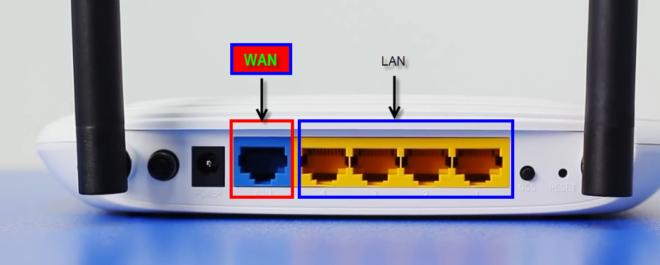 порты WLAN и LAN роутера tp link