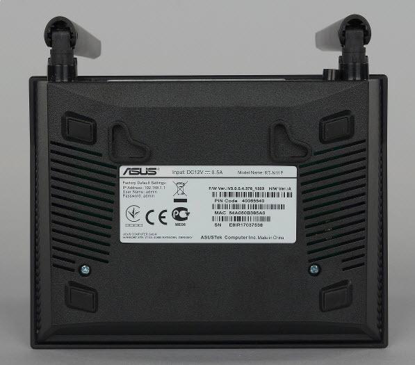 Обратная сторона роутераИнтерфейс роутера Asus rt n11p