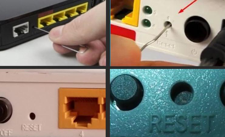 кнопка reset на роутере