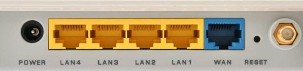 WAN и LAN порты маршрутизатора